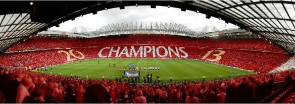 Old Trafford setelah Manchester United juara 2012-2013, Inggris